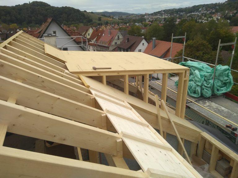 Dachsanierung Tübingen Saur Holzbau Zimmerei