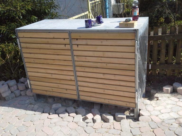 Mülltonnenbox Holz Verkleidung Saur