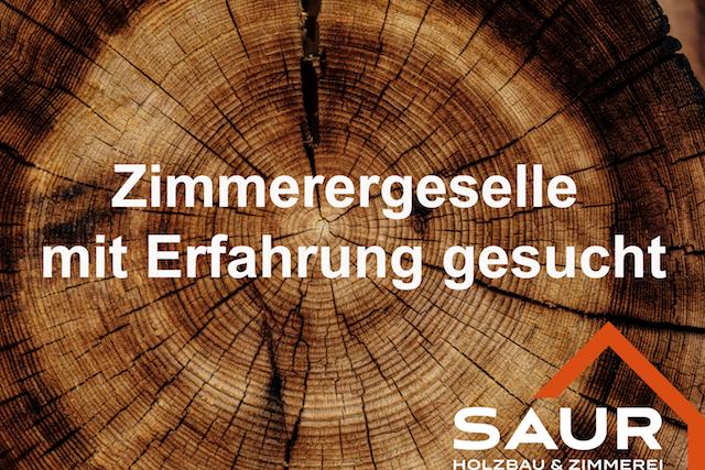Holzbau Saur Stellenangebot
